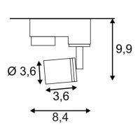 PURI Stromschienen-Strahler 50W GU10