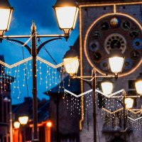 "QuickFix LED Mast/Wand-Motiv ""Pattern Flow Pole"""