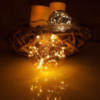 "LED Glaskugel ""Glow"" amber"
