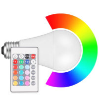 LED Lampe Birnenform RGB + WW E27 dimmbar