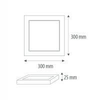 LED Halbein-/Aufbaupanel UNI mit Farbwahl