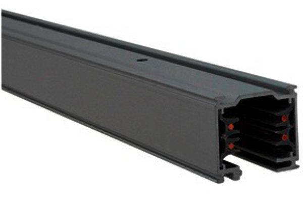 3-Phasen Stromschiene 1 Meter quadratisch schwarz