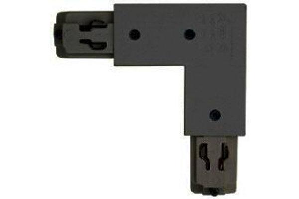 3-Phasen Eckverbinder quadratisch außen schwarz