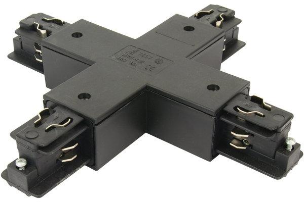 3-Phasen Kreuz-Verbinder quadratisch schwarz