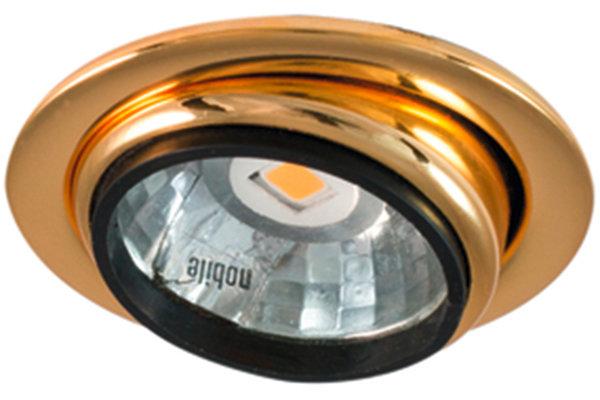 LED Möbeleinbauleuchte N 5022 COB 3,3W 830 nickel
