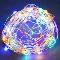 LED-Drahtlichterkette 3W 8m bunt