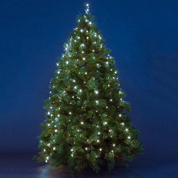 LED-Baumlichterkette 3,8W 120x45cm weiß Flashing***