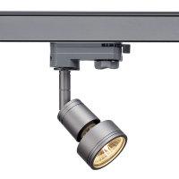 PURI Spot max. 50W GU10 3PH-Adapter silbergrau inkl....