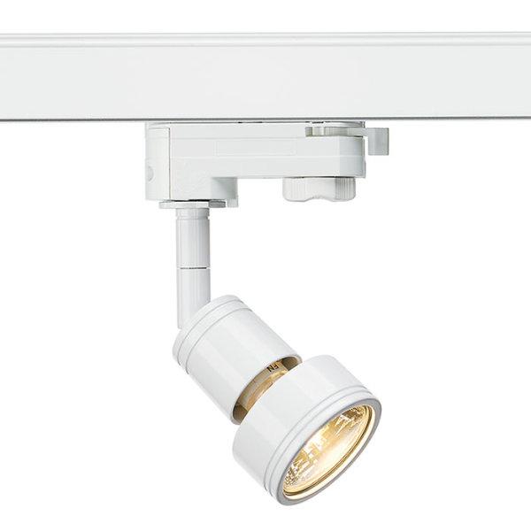 PURI Spot max. 50W GU10 3PH-Adapter weiß inkl. Dekoring