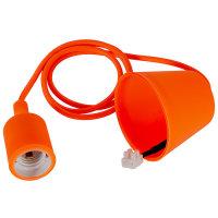 47 Fassung E27 mit Baldachin orange