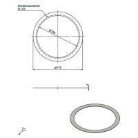 Ausgleichsring silber AD 195mm ID 155mm
