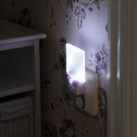 LED Nachtlicht mit Sensor 0,5W weiß quadratisch