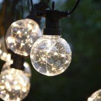 "LED Party-Lichterkette ""Drops"" mit Haken 4,5m"