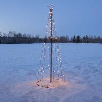 LED Lichterbaum mit Gestell 210cm warmweiß