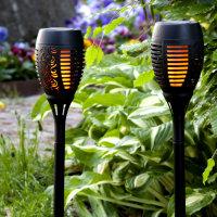 """LED Solar Fackel """"Flame"""" 2er Set"""