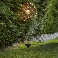 """LED Solar-Gartenstab """"Firework"""" warmweiß..."""