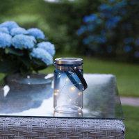 """LED Solar-Glas """"Tint blau"""" warmweiß inkl...."""