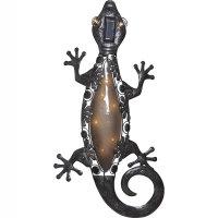 "LED Solar-Wanddeko ""Gecko"" warmweiß inkl...."
