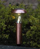 47 LED Solar-Gartenleuchte Kupferoptik -Auslauf-
