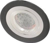 Einbaustrahler-Aluminium schwarz rund