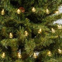 LED Kugel-Lichterkette 5,4m grüner Metalldraht...