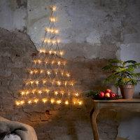 LED Lichternetz Tannenbaum mit Sternen 120cm Warmweiß