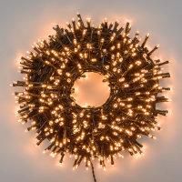 LED Compact Lichterkette 1000 MiniCluster 20m Kupfergold...